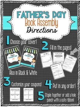 Father's Day Book & Coupons (Printable Activity)