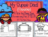 "Father's Day Book {FREEBIE}...""My Super Dad"""