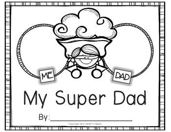"Father's Day Book {FREEBIE}...""My Super Dad"""
