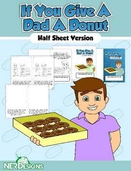 Father's Day Book: If You Give a Dad a Donut- Half sheet in English and Spanish