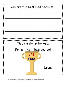 Father's Day Booklet #1 Dad