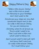 Father's Day Boot and Foot Print Poem