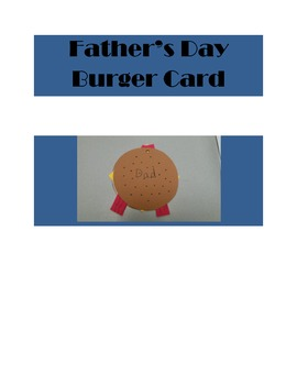 Father's Day Burger Card
