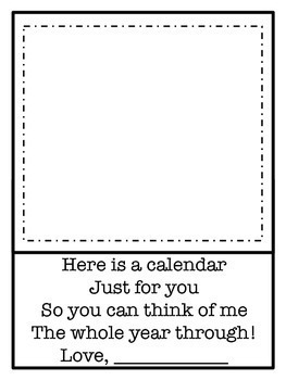 FREEBIE Calendar: Writing and Drawing