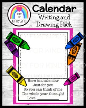 FREEBIE Calendar: Writing and Drawing
