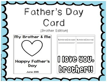 Father's Day Card - Brother Edition