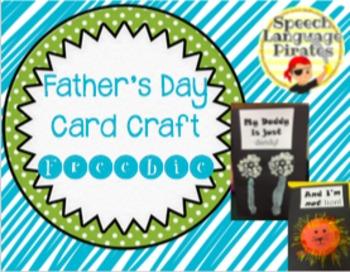 Father's Day Card Craft FREEBIE!