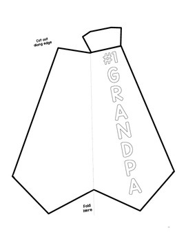 Father's Day Card, DIY Shirt Tie Bowtie Craft Templates