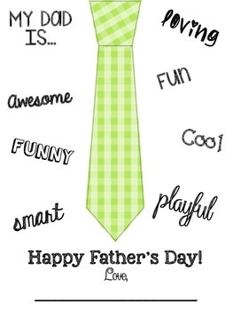Father's Day Card Freebie by Creatively Crazy With Learning