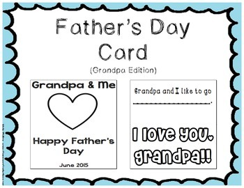 Father's Day Card - Grandpa Edition