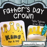 "Father's Day Craftivity --- ""King For A Day"" Father's Day Crown"