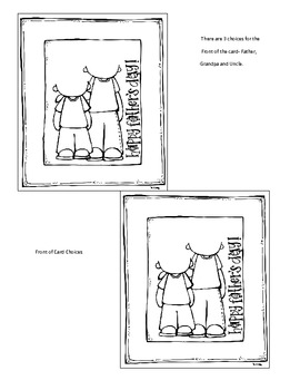 Fathers Day Cards, Webs & Letter Forms