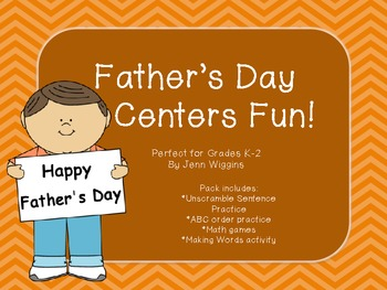 Father's Day Centers Pack