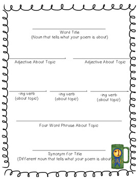 Father's Day Cinquain Poem {Printable Activity}