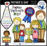 Father's Day Clip Art Set (14 graphics) Whimsy Workshop Teaching