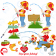 Fathers Day Clipart, Kids Clip art, Boys Clipart, AMB-1358