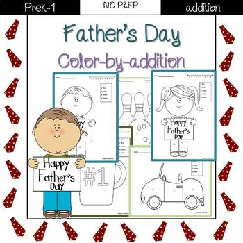 Father's Day color by code {addition}