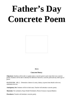 Father's Day Concrete Poem