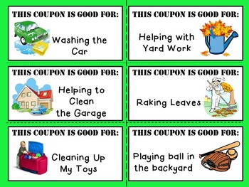 Father's Day Coupon Book ~ FREEBIE!