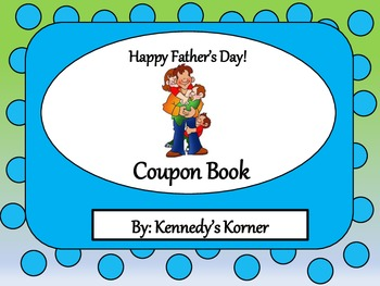 Father's Day Coupon Book and Writing Activity