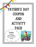 Father's Day Coupon and Activity Pack