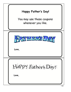 Father's Day Coupons - 3 Versions