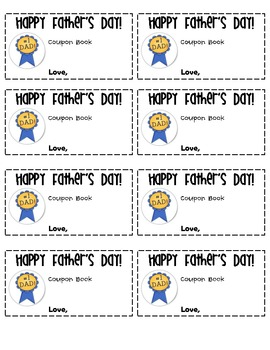 Father's Day Coupons - Cover