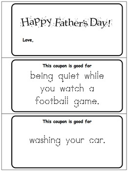 Father's Day Coupons - Free Sample Pack