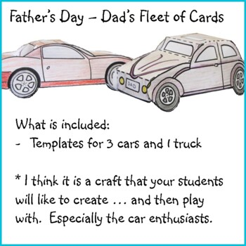 Father's Day Craft - Dad's Fleet of Cars