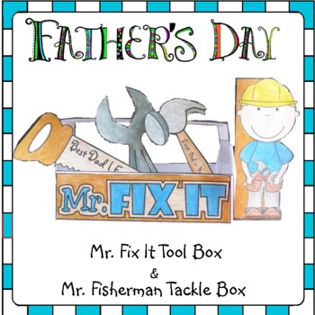 Father's Day Craft - Make Dad a Toolbox and a Fishing Tackle Box with Cards