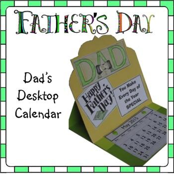 Father's Day Craft - Desktop Calendar