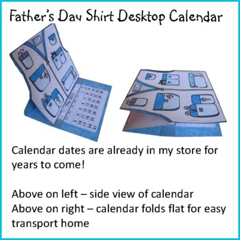Father's Day Craft - FISHING DAD Desktop Calendar