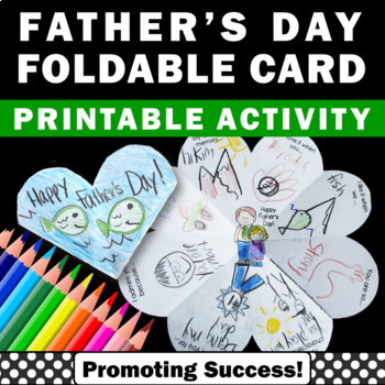 Fathers Day Craft Card { Father's Day Gift Idea } Writing
