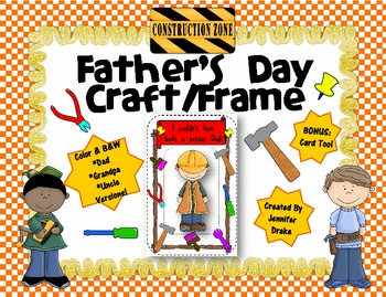Father's Day Craft ~Frame & Card~ Versions for Dad, G'pa, Uncle & Brother!