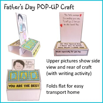 Father's Day Craft - POP-UP Father's Day Card