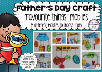 Father's Day Craft Pack - Favourite Things Mobiles