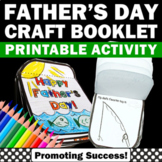 Fathers Day Craft Book for Kids to Make, Father's Day Writing & Coloring Card