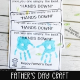 "Father's Day Craft:Simply the Best ""Hands Down!"" Grandpa/Uncle/Brother/Step-Dad"