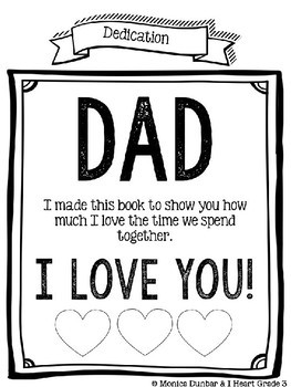 Father's Day Differentiated Craftivity (EDITABLE)