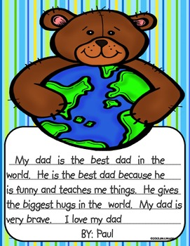 "Father's Day Craftivity and Gift Book ""I Have the Best Dad in the World"""