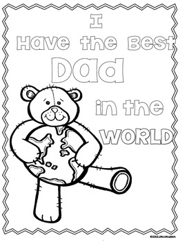"""Father's Day Craftivity and Gift Book """"I Have the Best Dad"""