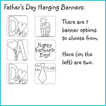 Father's Day Crafts - DAD Hanging Banners