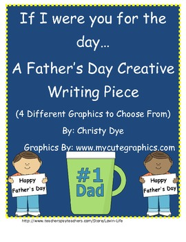 Father's Day Creative Writing Piece- If I were you for the day...