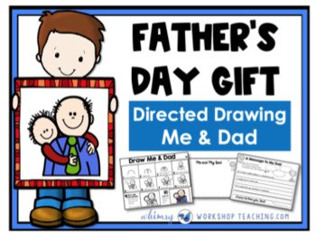 FREE Fathers Day Directed Drawing and Writing Whimsy Workshop Teaching