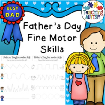 Father's Day Fine Motor Skills Worksheets - No Prep