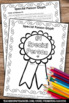 FREE Father's Day Glyph Coloring Worksheets { Greatest Dad Award Gift Idea }
