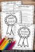 FREE Father's Day Glyph Coloring Worksheets { Greatest Dad