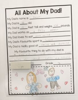 Father's Day Freebie - All About My Dad