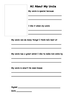 Father's Day Gift/ Questionnaire Packet