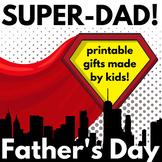 Father's Day Gift Book!  Grades K-3!  SUPERHERO theme! #superhero
